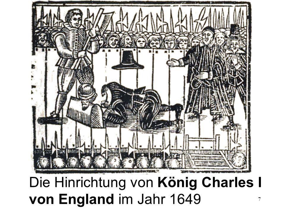 7 Die Hinrichtung von König Charles I von England im Jahr 1649
