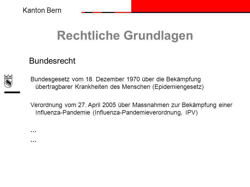Kanton Bern Rechtliche Grundlagen Bundesrecht Bundesgesetz vom 18.
