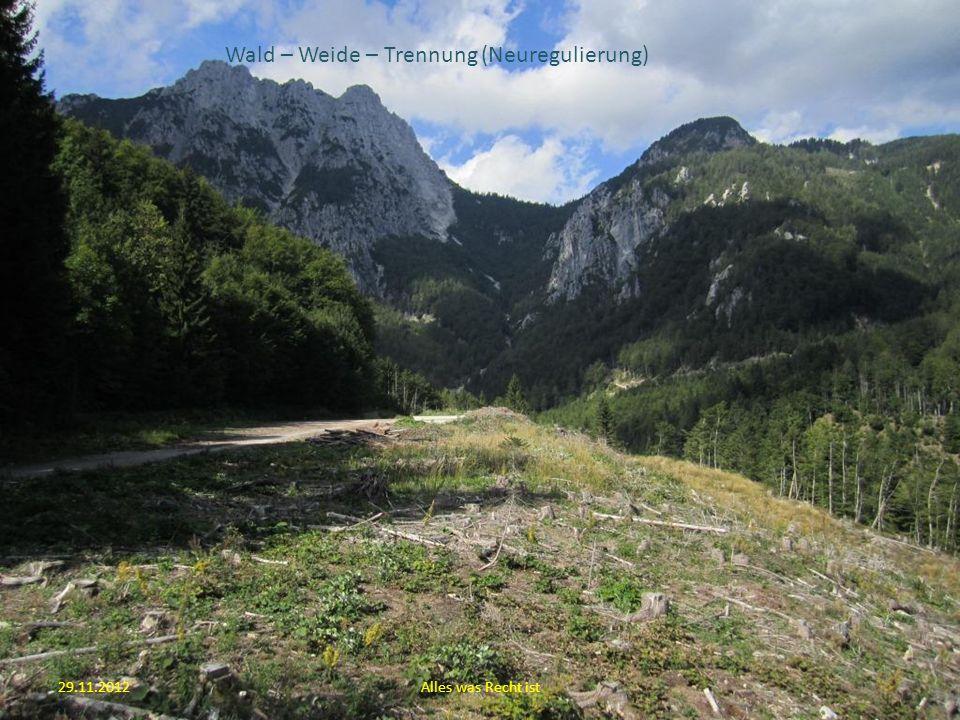 29.11.2012Alles was Recht ist Wald – Weide – Trennung (Neuregulierung)