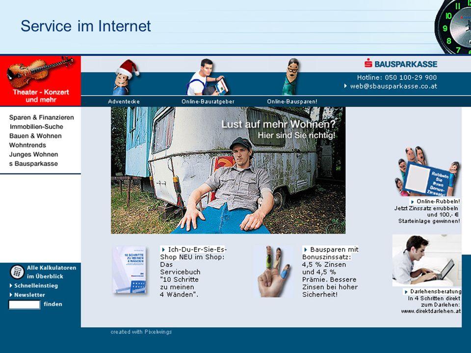 Service im Internet