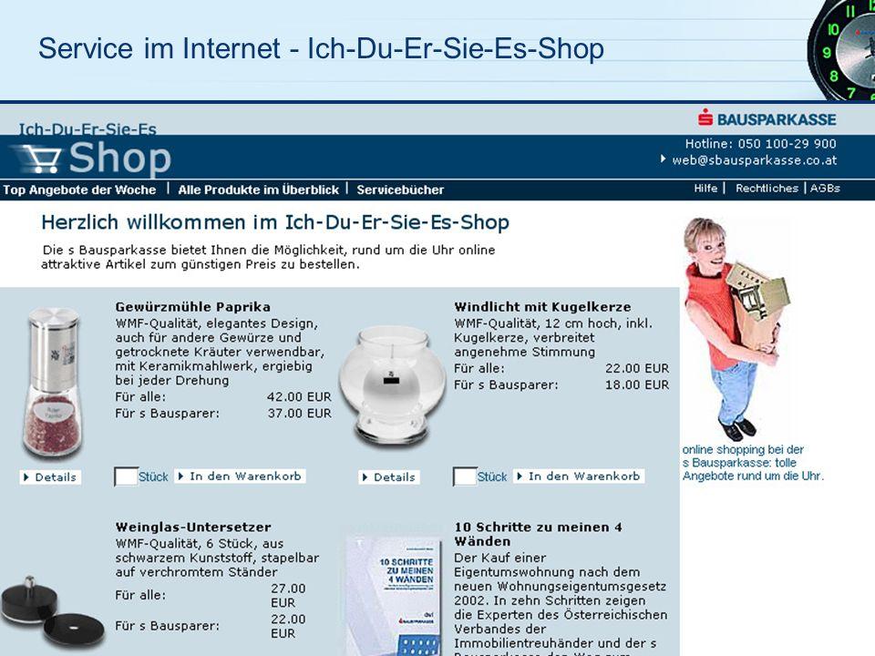 Service im Internet - Ich-Du-Er-Sie-Es-Shop