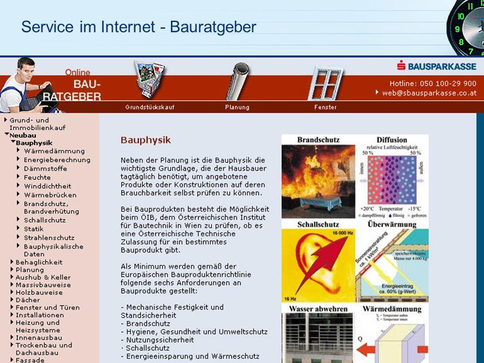 Service im Internet - Bauratgeber