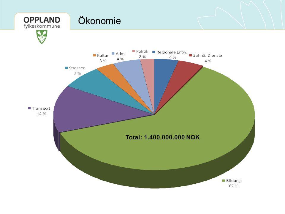 Total: 1.400.000.000 NOK Ökonomie