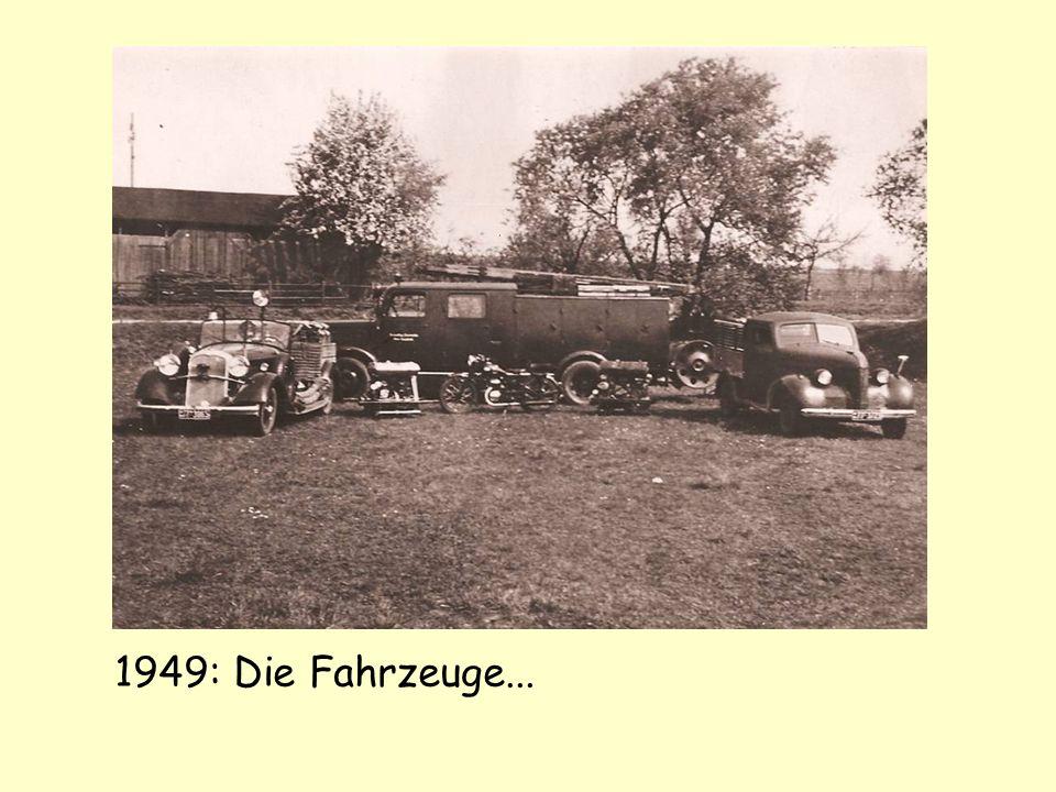 1949: Die Fahrzeuge...