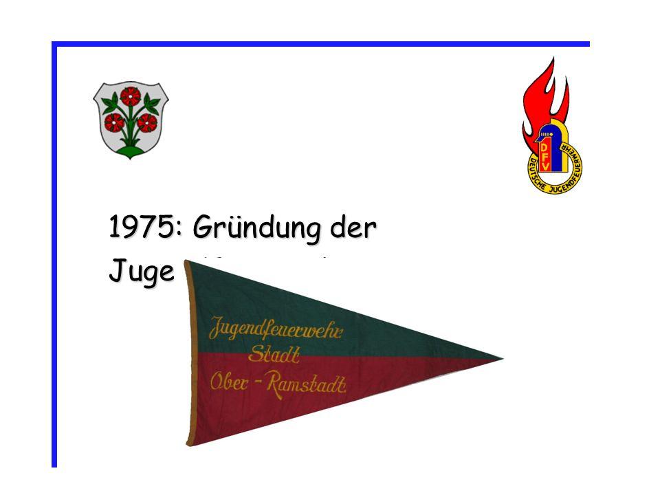 1975: Gründung der Jugendfeuerwehr