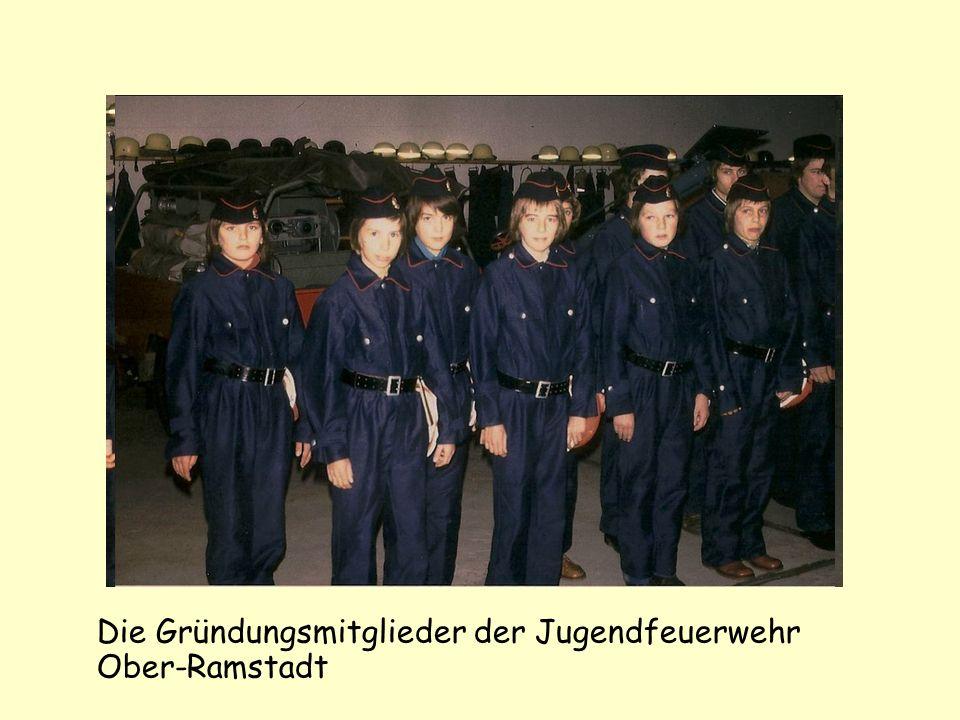 Die Gründungsmitglieder der Jugendfeuerwehr Ober-Ramstadt
