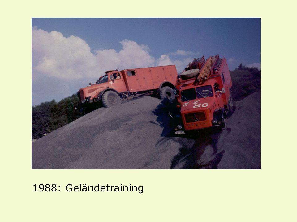 1988: Geländetraining