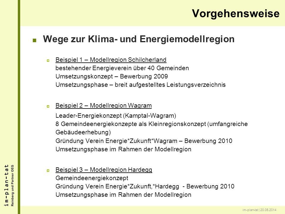 im-plan-tat | 20.05.2014 Wege zur Klima- und Energiemodellregion Beispiel 1 – Modellregion Schilcherland bestehender Energieverein über 40 Gemeinden U
