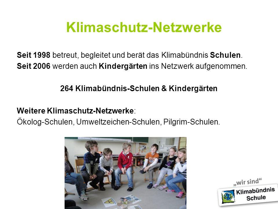 Klimaschutz-Netzwerke Seit 1998 betreut, begleitet und berät das Klimabündnis Schulen.