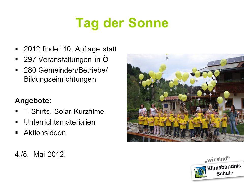 Tag der Sonne 2012 findet 10.