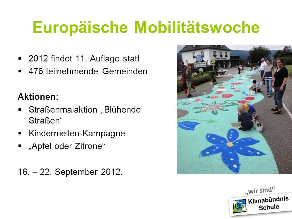 Europäische Mobilitätswoche 2012 findet 11.