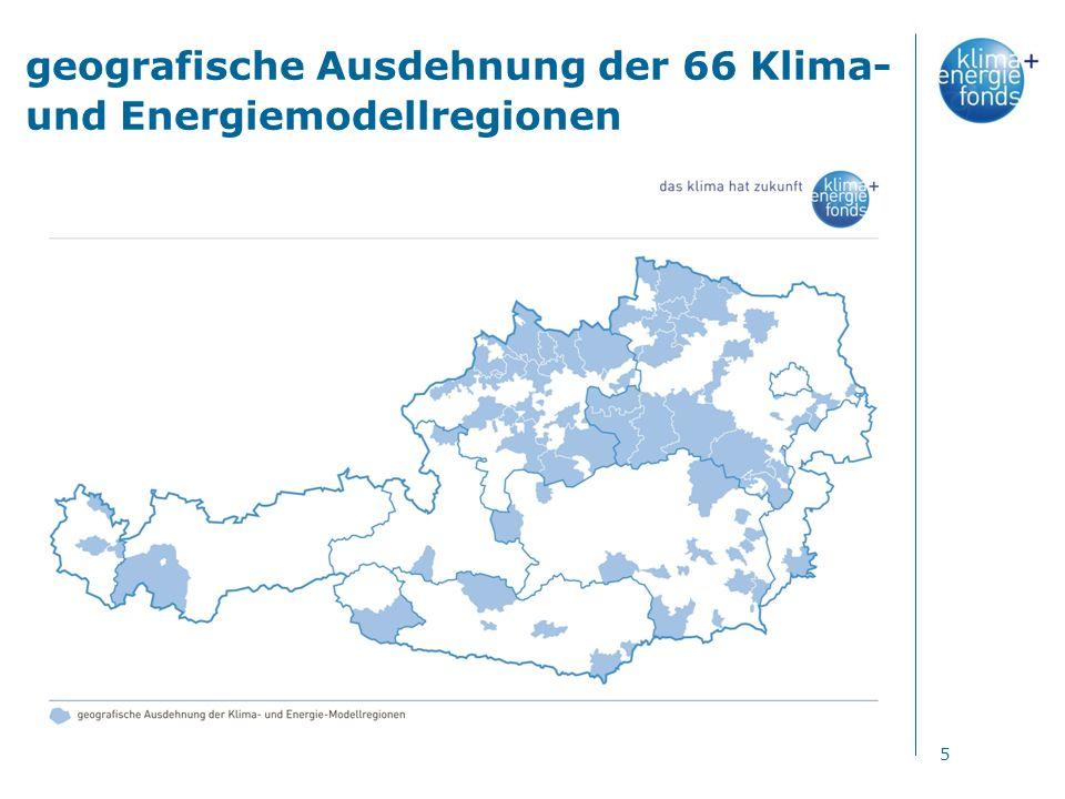 geografische Ausdehnung der 66 Klima- und Energiemodellregionen 5