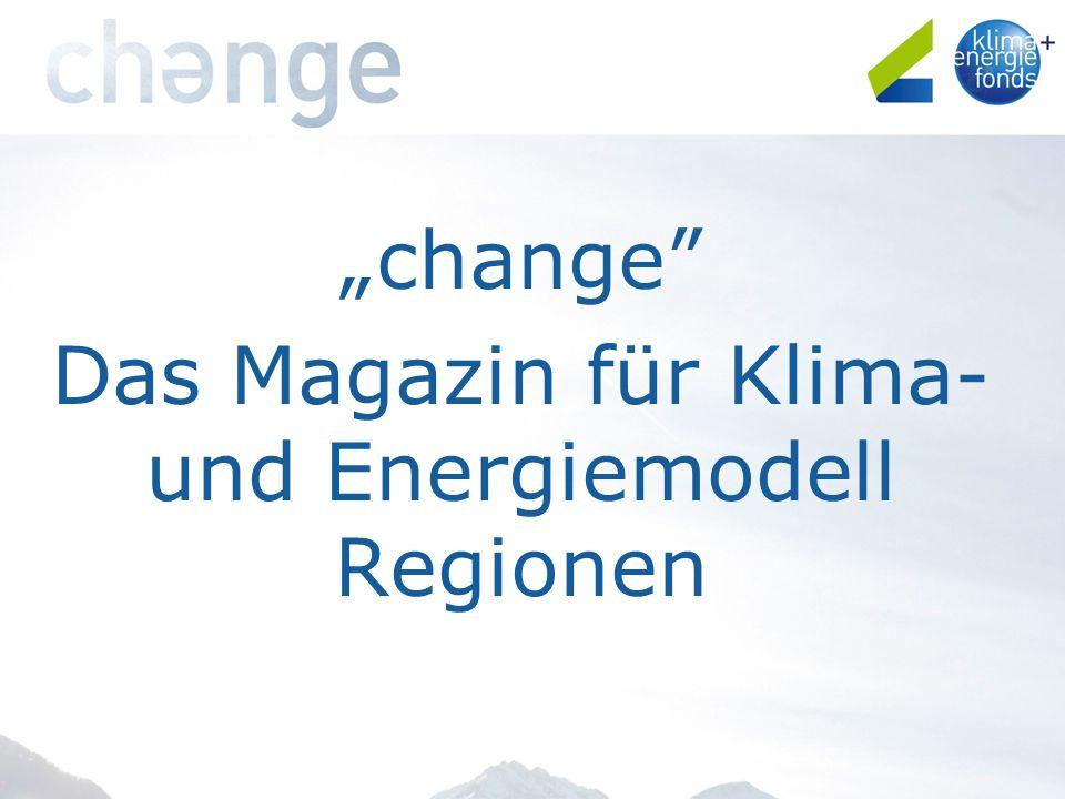 change Das Magazin für Klima- und Energiemodell Regionen