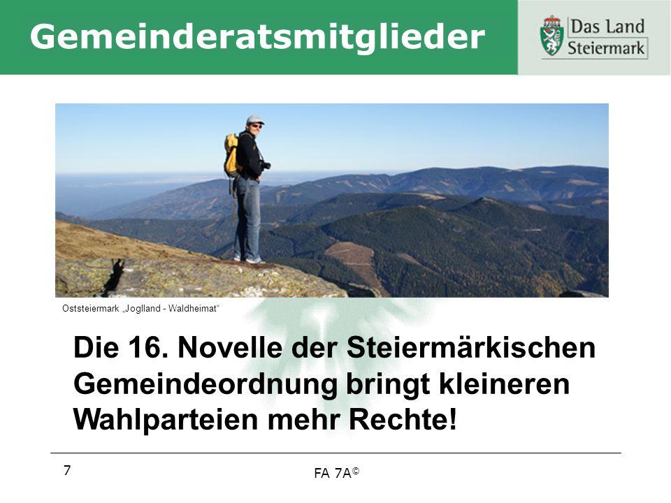 FA 7A © Gemeinderatsmitglieder 7 Die 16.