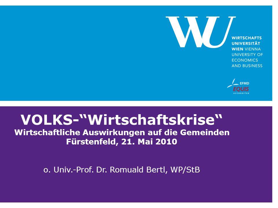 VOLKS-Wirtschaftskrise Wirtschaftliche Auswirkungen auf die Gemeinden Fürstenfeld, 21.