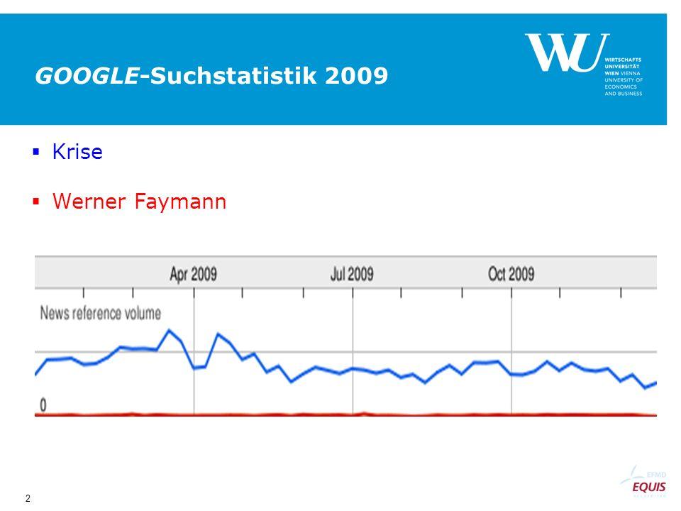 2 GOOGLE-Suchstatistik 2009 Krise Werner Faymann