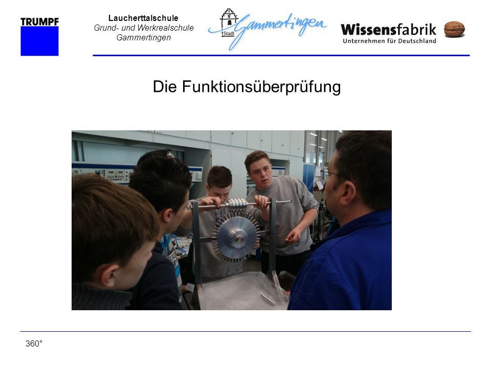 Laucherttalschule Grund- und Werkrealschule Gammertingen 360° Die Funktionsüberprüfung