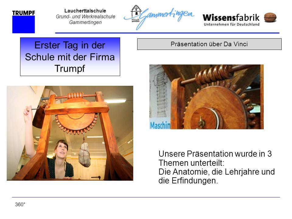 Laucherttalschule Grund- und Werkrealschule Gammertingen Unsere Präsentation wurde in 3 Themen unterteilt: Die Anatomie, die Lehrjahre und die Erfindu