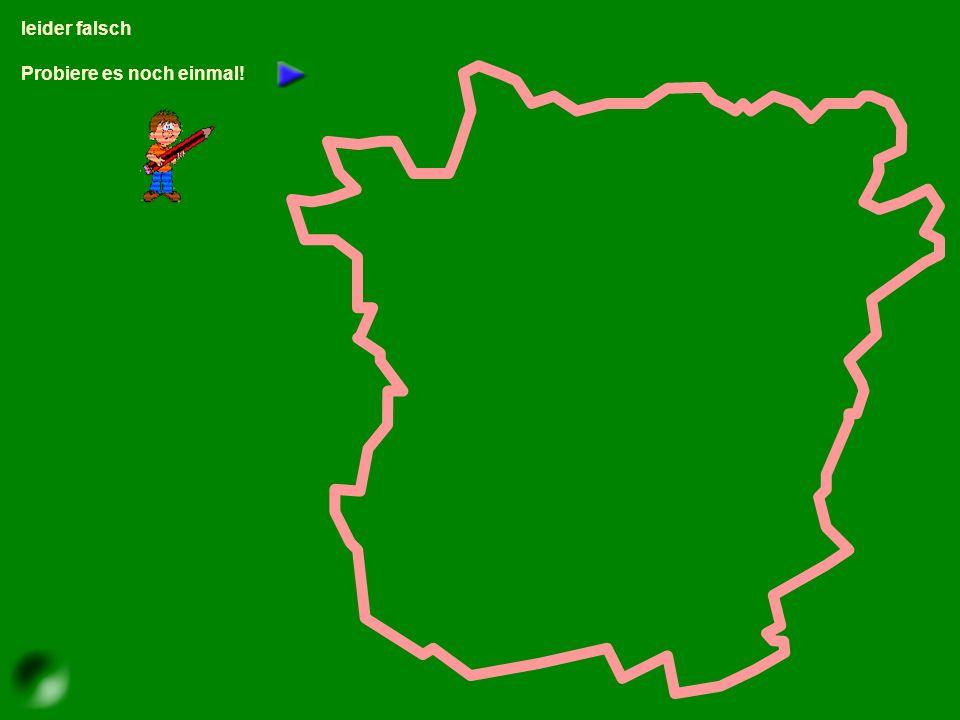 Klicke mit der Maus auf den richtigen Bezirk! Klicke auf irgendeinen Bezirk links der Mur!