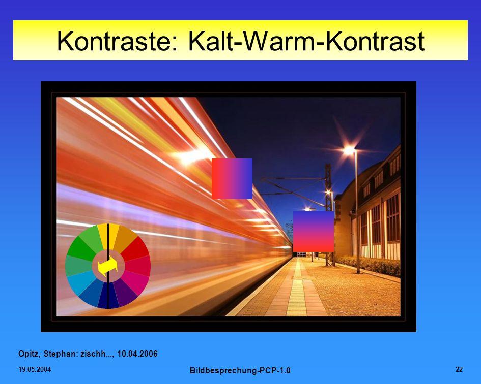 19.05.2004 Bildbesprechung-PCP-1.0 22 Kontraste: Kalt-Warm-Kontrast Opitz, Stephan: zischh..., 10.04.2006