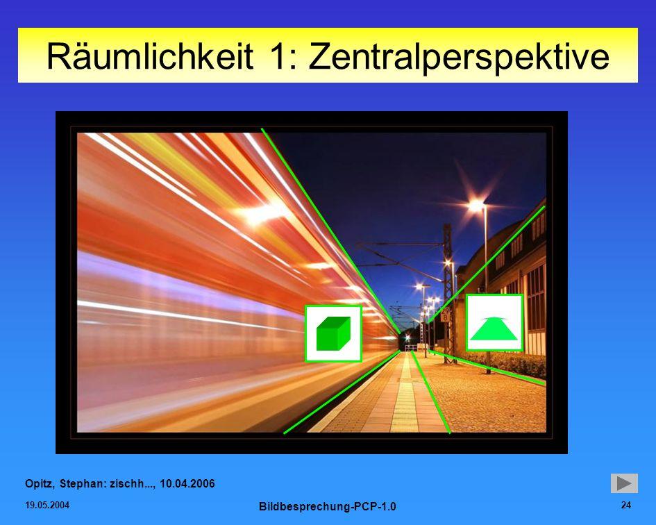 19.05.2004 Bildbesprechung-PCP-1.0 24 Räumlichkeit 1: Zentralperspektive Opitz, Stephan: zischh..., 10.04.2006