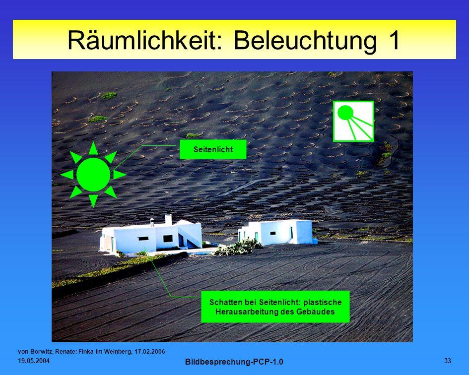 19.05.2004 Bildbesprechung-PCP-1.0 33 Räumlichkeit: Beleuchtung 1 von Borwitz, Renate: Finka im Weinberg, 17.02.2006 Seitenlicht Schatten bei Seitenli