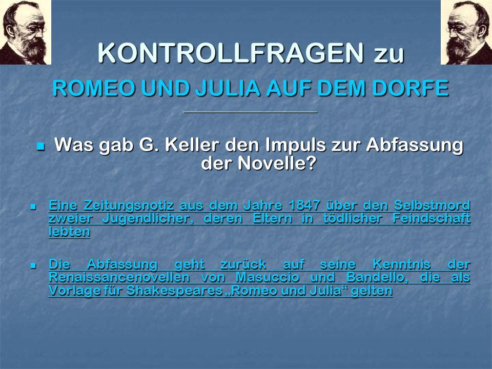FALSCH ! 1876 erschienen die Züricher Novellen. 1896 lebte G. Keller nicht mehr, er starb 1890.