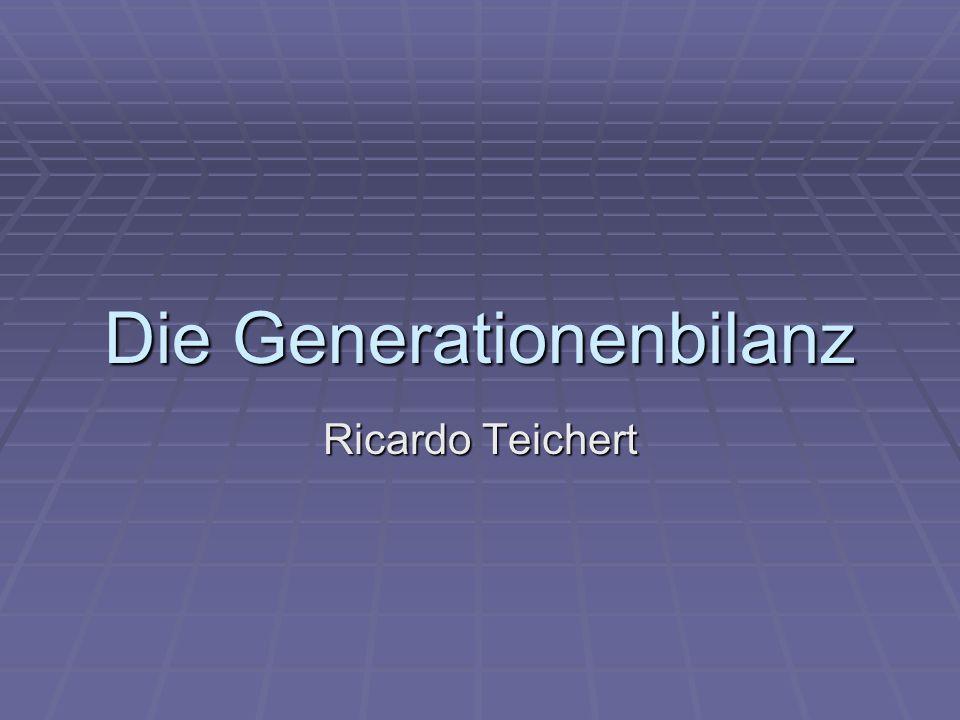 Gliederung 1.) Begriffserläuterung 2.) Ziele 3.) Methodik der Generationenbilanz 3.1) Nettosteuerlast und Generationenkonten 3.2) Nachhaltigkeitslücke 4.) Isolierung einzelner Subsysteme 5.) Beispiel GRV 6.) Fazit 2Die Generationenbilanz - Ricardo Teichert - 01.09.2008