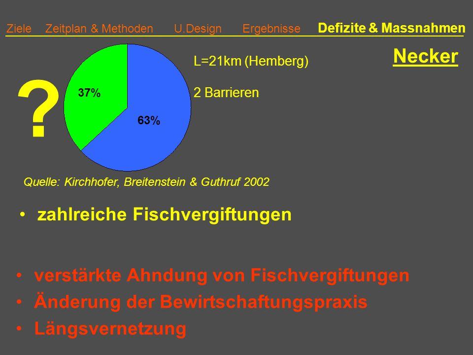 Ziele Zeitplan & Methoden U.Design Ergebnisse Defizite & Massnahmen Necker .