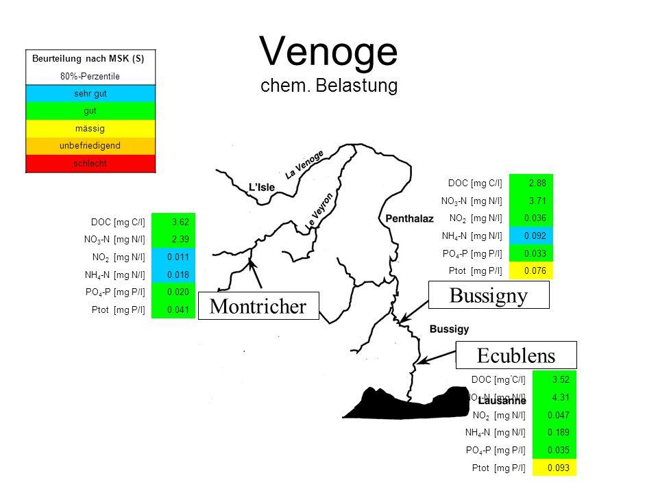 Bussigny Montricher Ecublens Venoge chem.