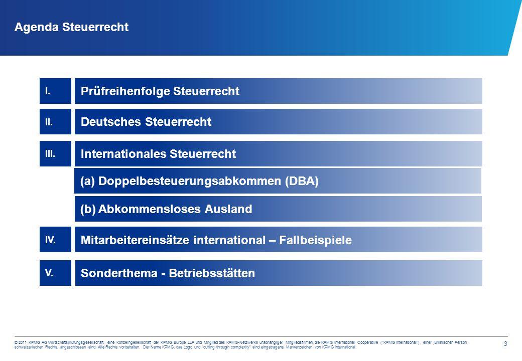 3 © 2011 KPMG AG Wirtschaftsprüfungsgesellschaft, eine Konzerngesellschaft der KPMG Europe LLP und Mitglied des KPMG-Netzwerks unabhängiger Mitgliedsf