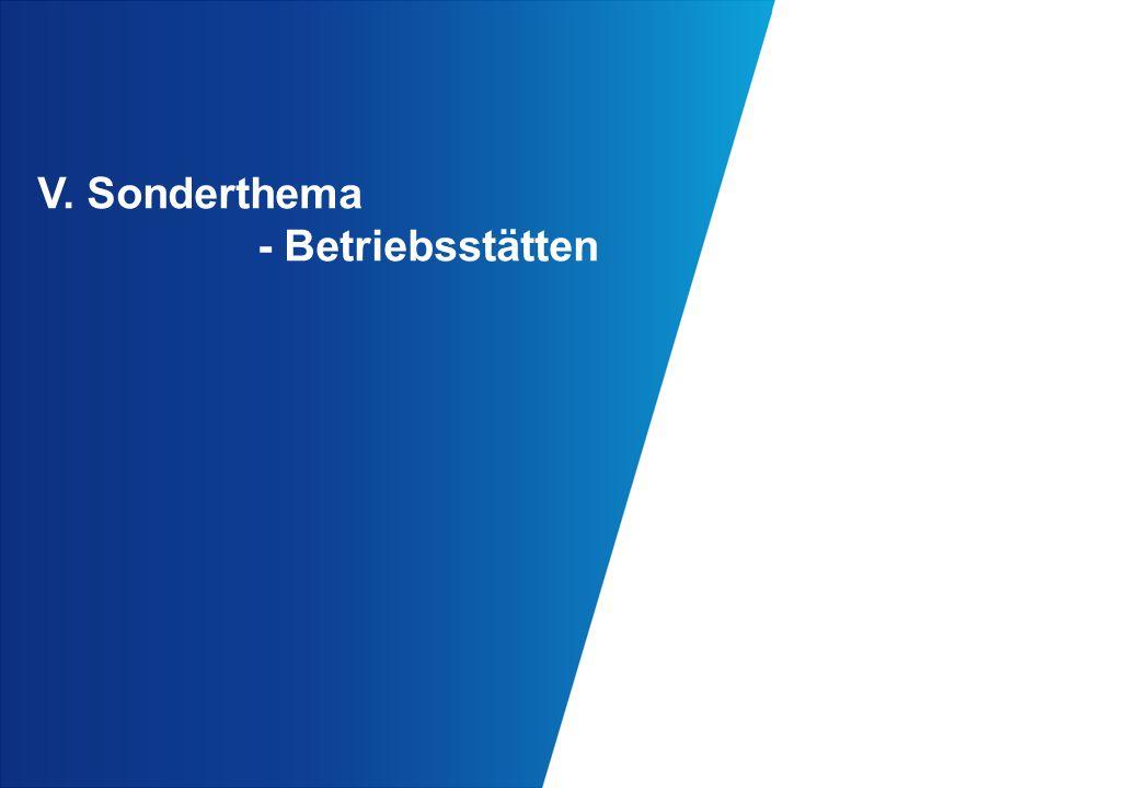 V. Sonderthema - Betriebsstätten