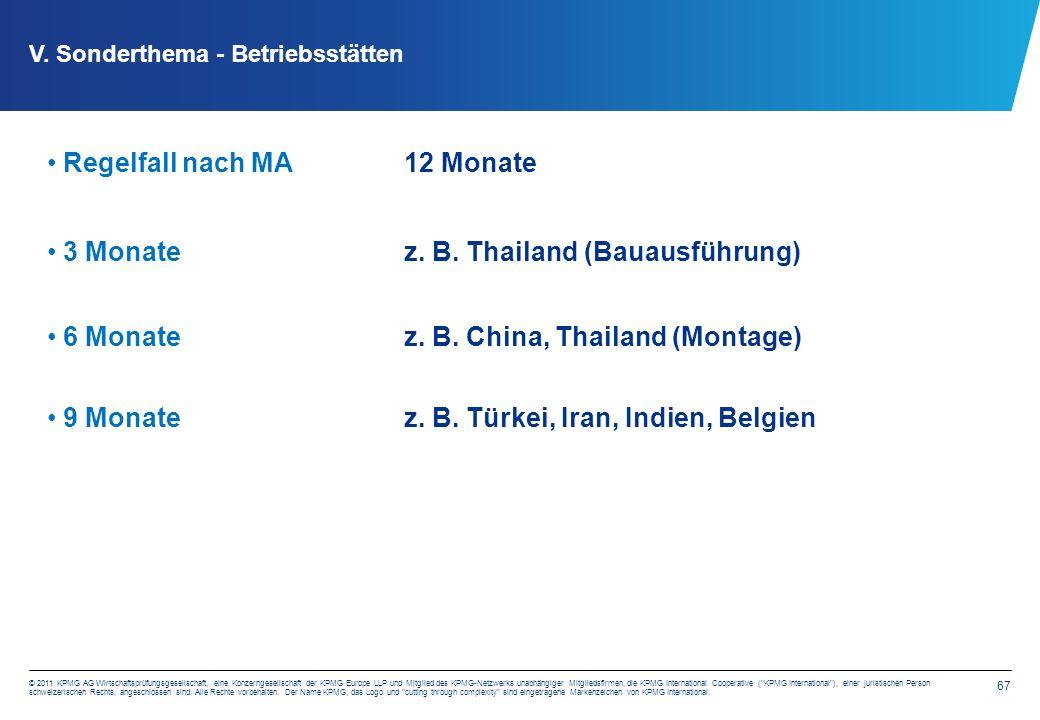 67 © 2011 KPMG AG Wirtschaftsprüfungsgesellschaft, eine Konzerngesellschaft der KPMG Europe LLP und Mitglied des KPMG-Netzwerks unabhängiger Mitgliedsfirmen, die KPMG International Cooperative ( KPMG International ), einer juristischen Person schweizerischen Rechts, angeschlossen sind.
