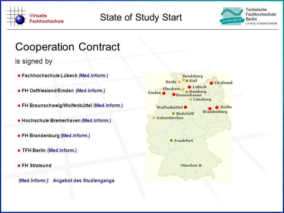Virtuelle Fachhochschule Technische Fachhochschule Berlin University of Applied Sciences Projektträger: l Fachhochschule Lübeck (Med.Inform.) l FH Ost