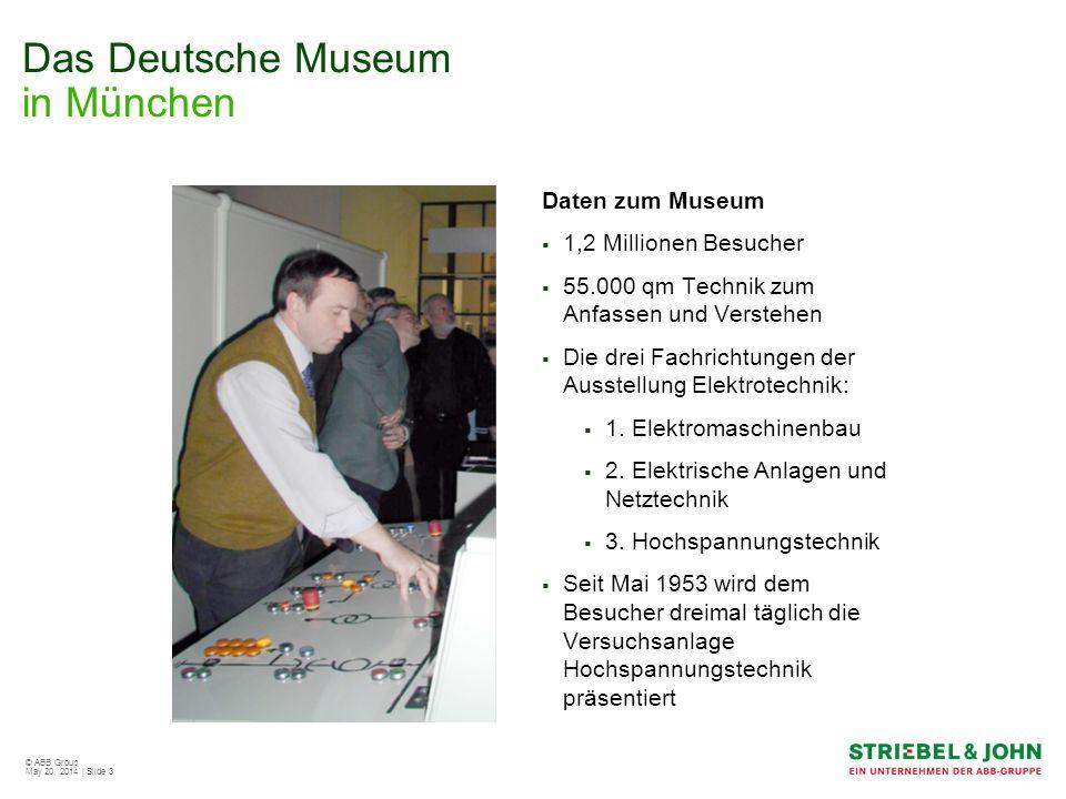 © ABB Group May 20, 2014 | Slide 4 Das Deutsche Museum in München Versuchsanlage Hochspannungstechnik Zahn der Zeit nagte an der gussgekapselten Verteilung Ab 2001 häuften sich Fehlfunktionen Überarbeitung der Anlage wurde notwendig Runderneuerung der Hochspannungsanlage