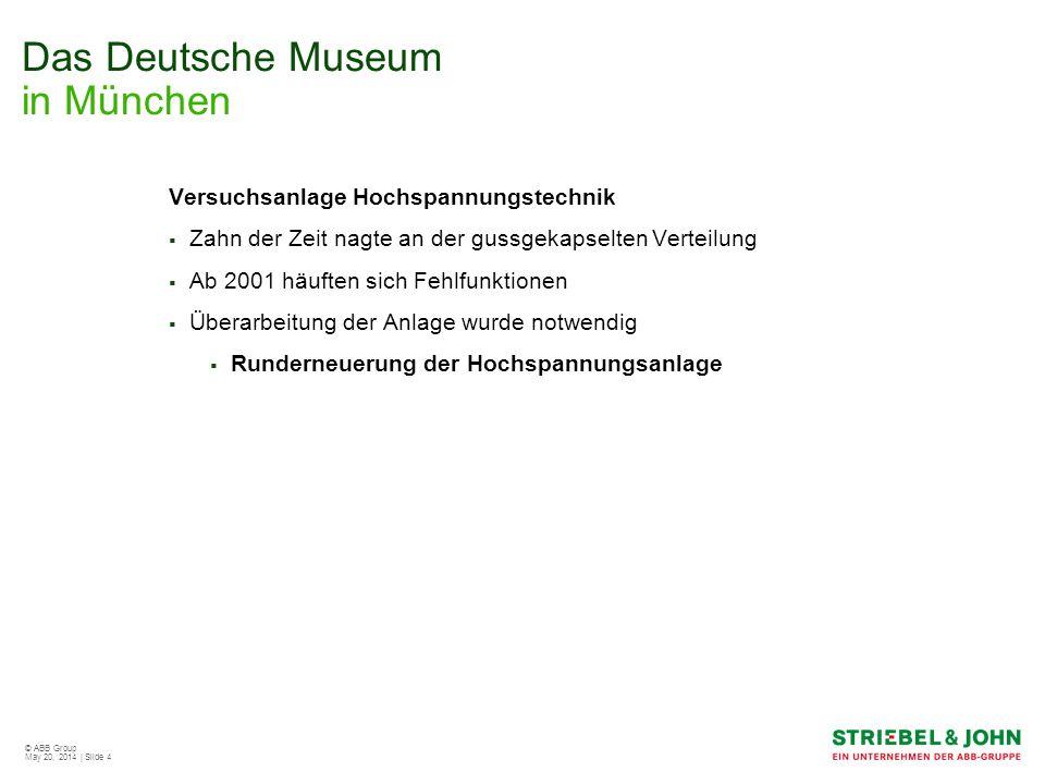 © ABB Group May 20, 2014 | Slide 5 Das Deutsche Museum in München Innovatives Verteilersystem Das System XA wurde aufgrund der Einbautiefe der großen Leistungsschütze und des Steuertrafos gewählt 4/8 XA-Reihenschaltschrank ausgebaut mit dem Steuerteil der Anlage 3/8 XA-Reihenschaltschrank bestückt mit dem Lastteil der Anlage