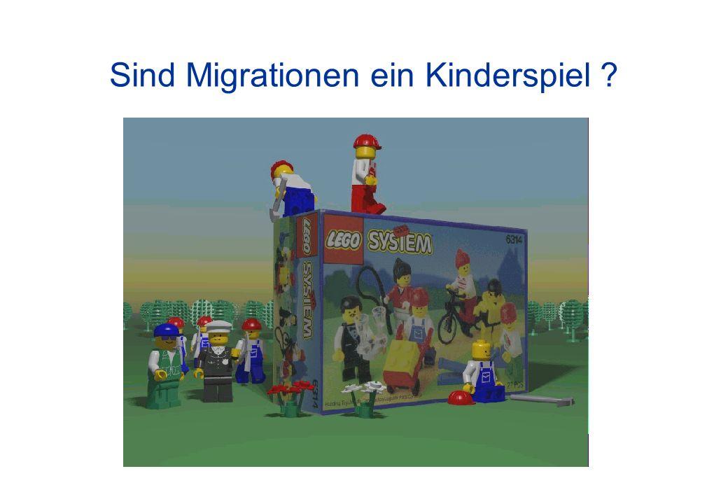 Sind Migrationen ein Kinderspiel ?