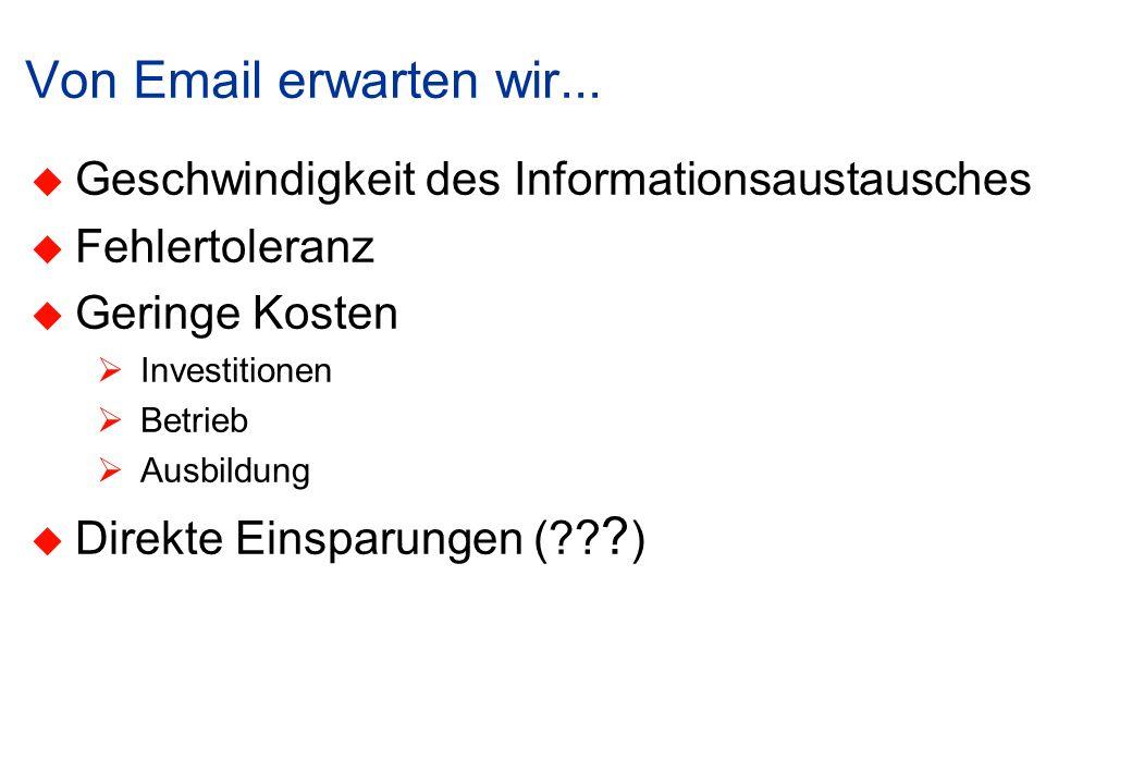 Von Email erwarten wir...