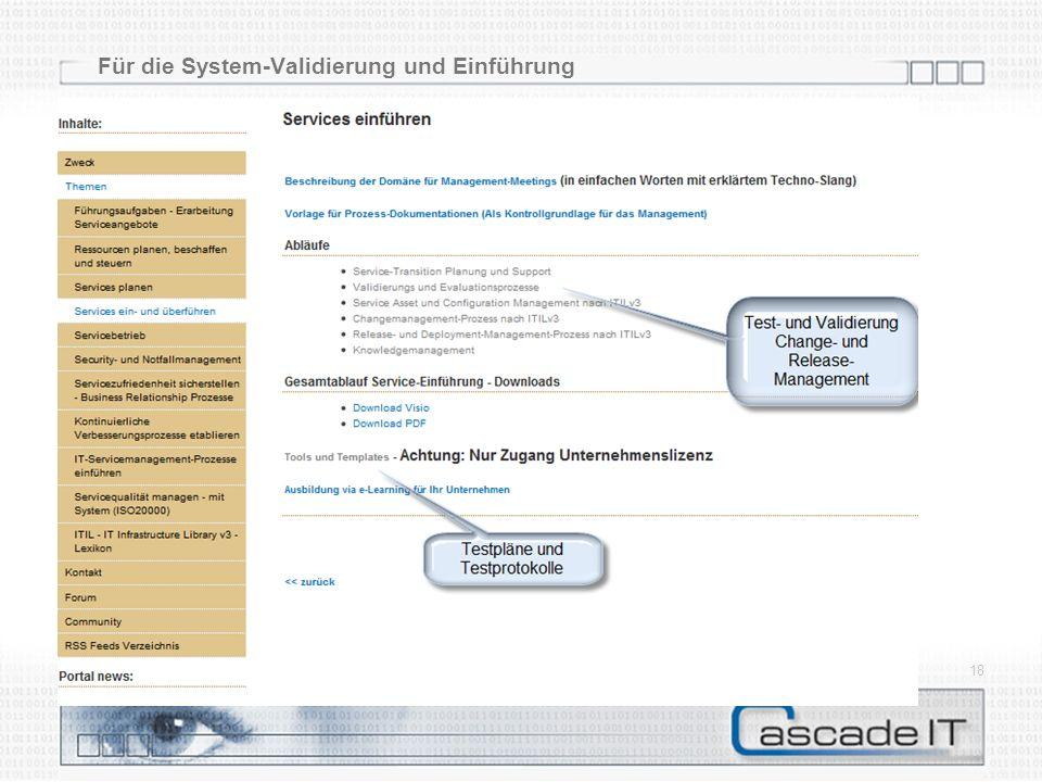 Für die System-Validierung und Einführung 20.05.2014 18