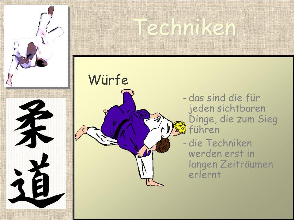 Techniken Fallschule -ist notwendig um Judo verletzungsfrei auszuüben -ist Die erste Ausbildung judospezifischer Bewegungsabläufe