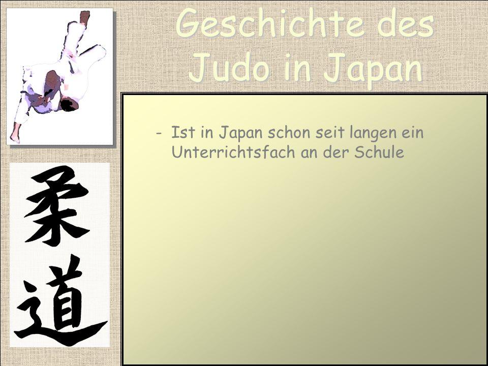 Geschichte des Judo in Japan -Ist untrennbar mit Jigoro Kano verbunden -Veränderte das Jiu-Jitsu zu einer Sportart indem er ihm alle gefährlichen Tech