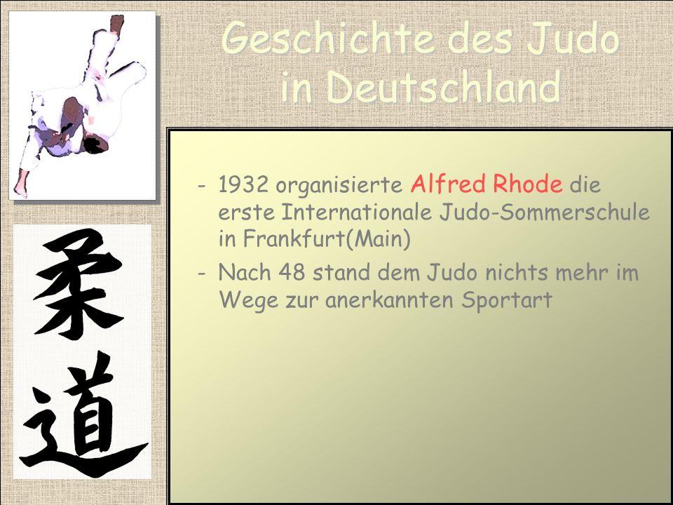 Geschichte des Judo in Deutschland -Jiu-Jitsu erlangte in Deutschland eine geringe Bedeutung -In den 20 Jahren entstanden in Folge der gesellschaftlic