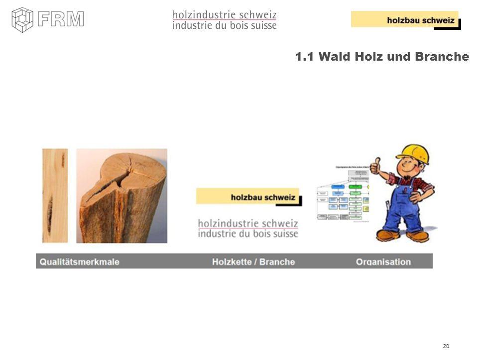 20 1.1 Wald Holz und Branche