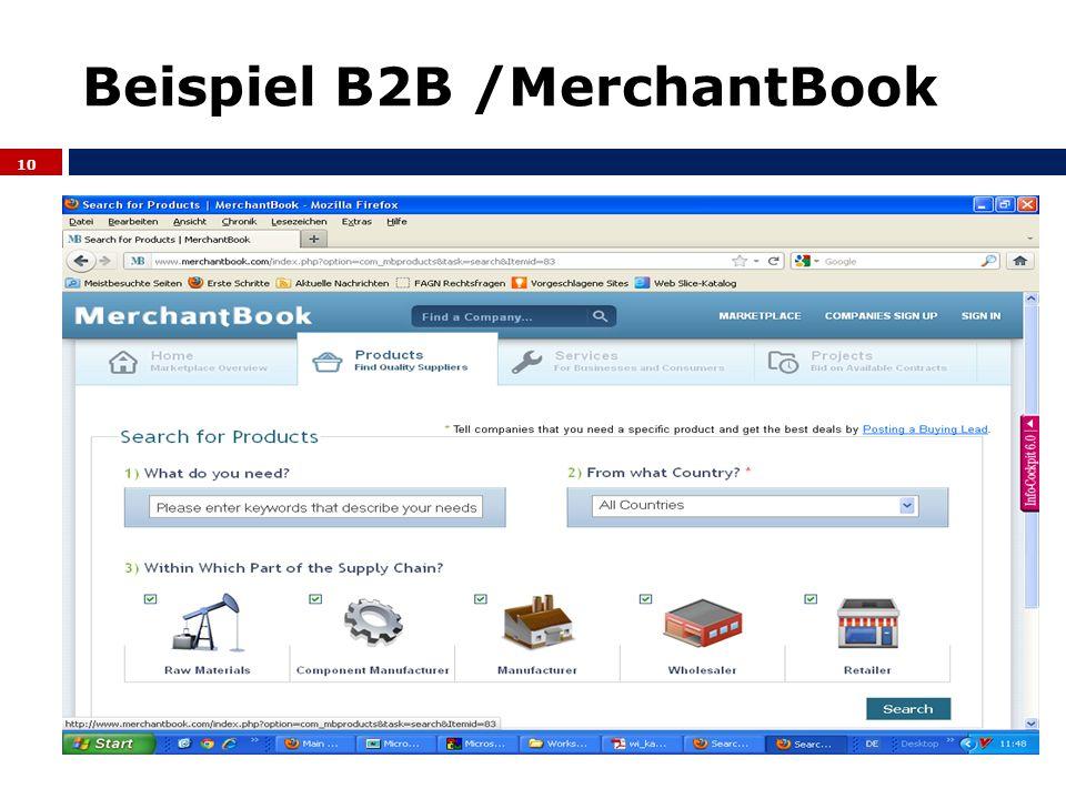 Beispiel B2B /MerchantBook 10