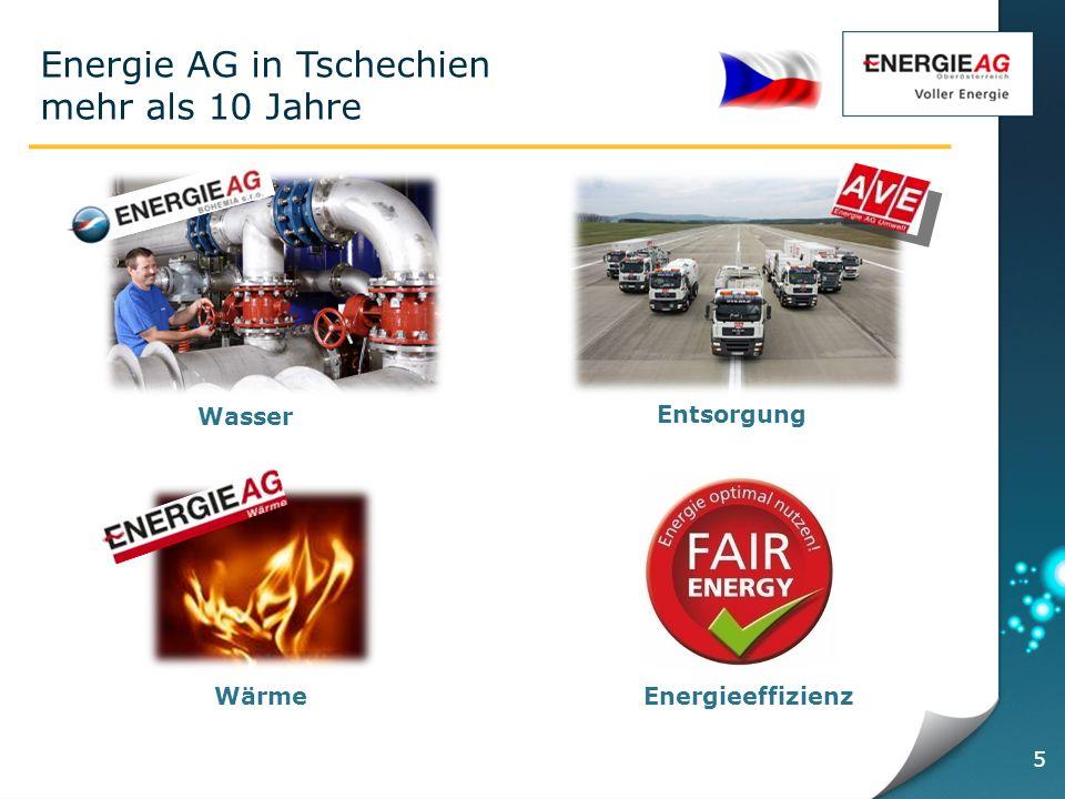 Energie AG in Tschechien mehr als 10 Jahre 5 Entsorgung Energieeffizienz Wasser Wärme