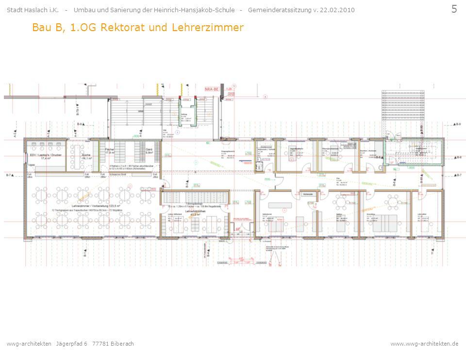 wwg-architekten Jägerpfad 6 77781 Biberach www.wwg-architekten.de 5 Stadt Haslach i.K. - Umbau und Sanierung der Heinrich-Hansjakob-Schule - Gemeinder