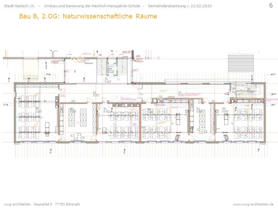 wwg-architekten Jägerpfad 6 77781 Biberach www.wwg-architekten.de 6 Stadt Haslach i.K. - Umbau und Sanierung der Heinrich-Hansjakob-Schule - Gemeinder