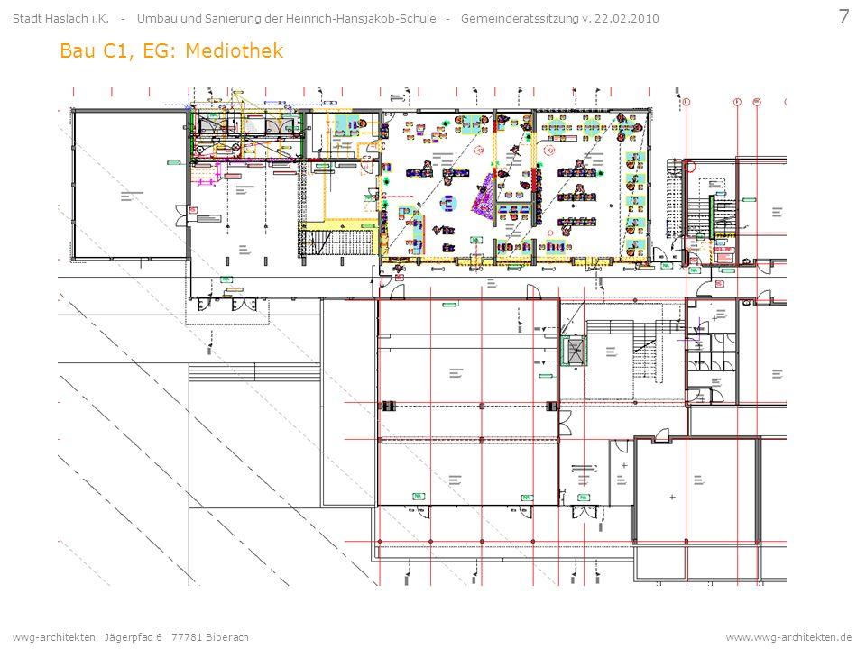 wwg-architekten Jägerpfad 6 77781 Biberach www.wwg-architekten.de 7 Stadt Haslach i.K. - Umbau und Sanierung der Heinrich-Hansjakob-Schule - Gemeinder