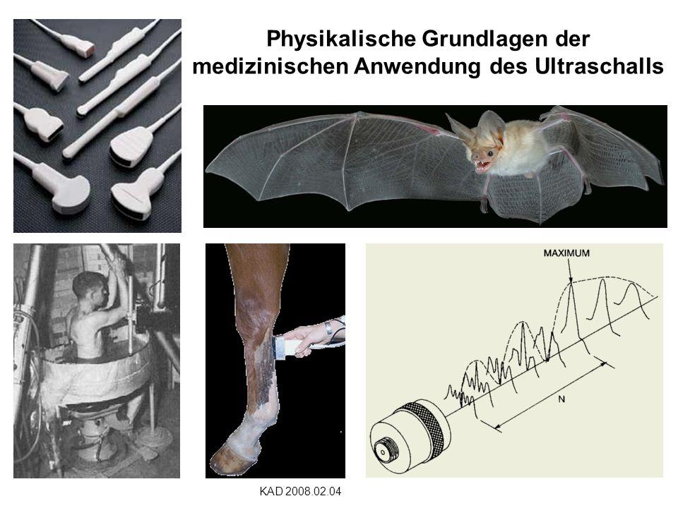 Physikalische Grundlagen der medizinischen Anwendung des Ultraschalls KAD 2008.02.04