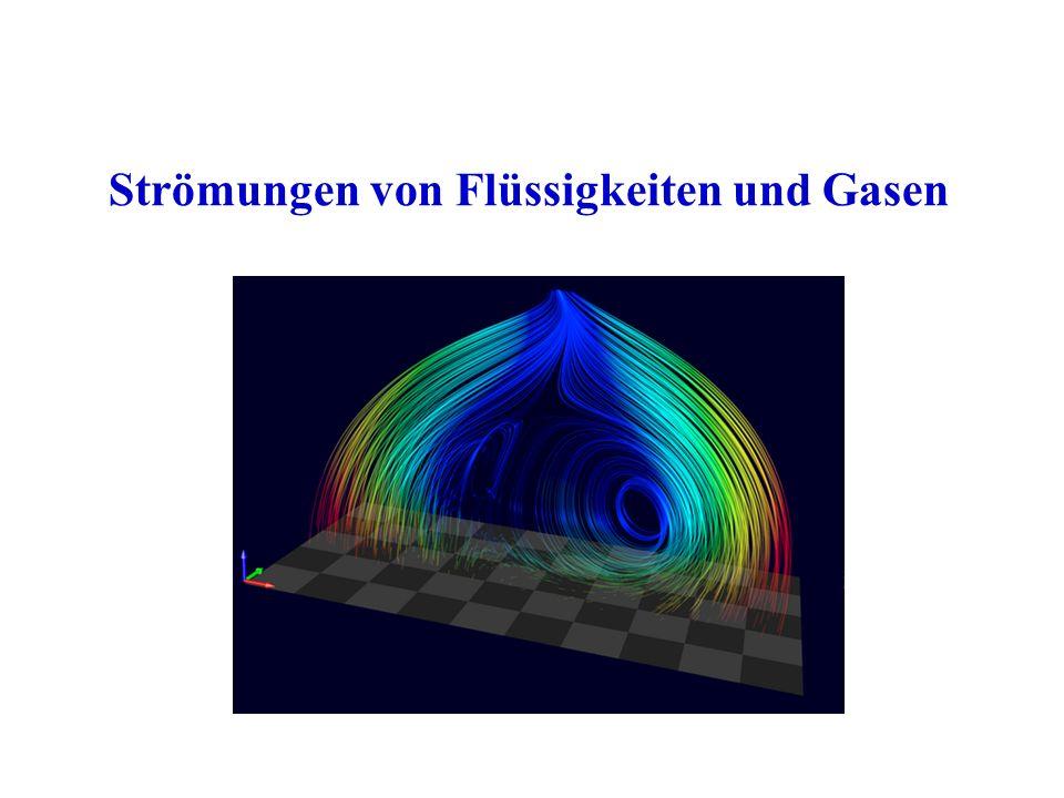Strömungen von Flüssigkeiten und Gasen